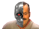 Sticker risitas robot terminator bot sourire bg cyborg