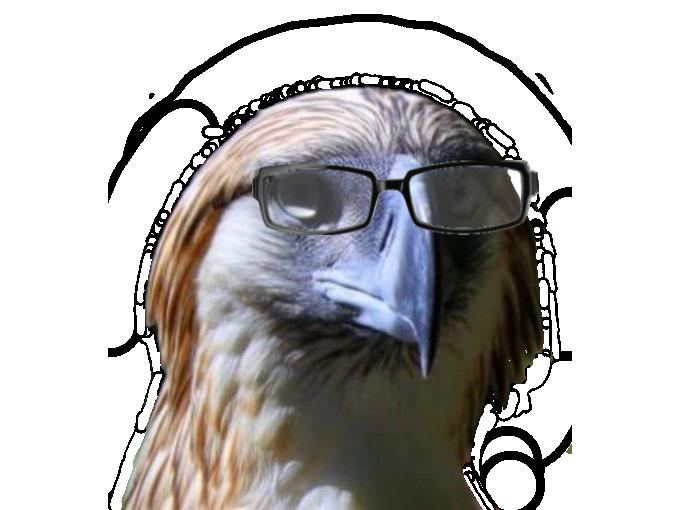 Sticker risitas rapace faucon aigle qlf pnl lunette intello prepa cassini math prof