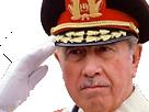 Sticker politic general augusto pinochet helicoptere chili
