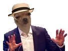 Sticker risitas chien calme stop