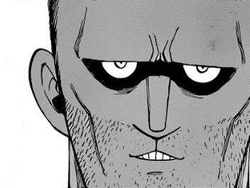 Sticker kikoojap jacob classique face tete de meme assassin concentre credible fairy tail yeux visage