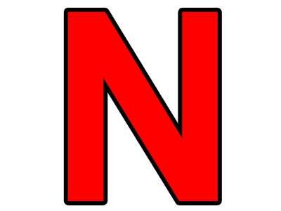Sticker risitas lettre n n n