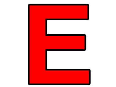 Sticker other lettre e e e