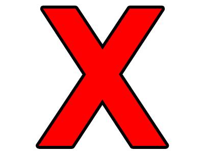 Sticker other lettre x x x