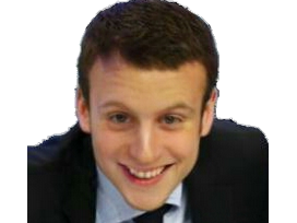 Sticker politic emmanuel macron enfant jeune dynamique sourire moqueur requin faceapp