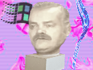 Sticker vaporwave synthwave aesthetic statue musique buste