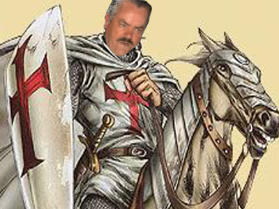 Sticker croisade chevalier armure casque risitas guerre cheval serieux bouclier templier jap kikoo kikoo jap anime