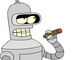 Sticker other bender futurama parle cigare interessant 10