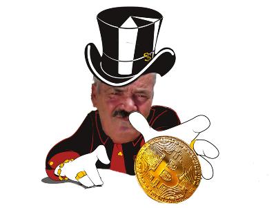 Sticker risitas picssou argent bitcoin fric riche picsou monaie poker