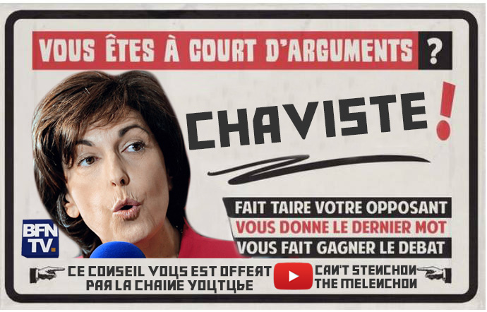 Sticker politic ruth elkrief chavez argument godwin cant stenchon the melenchon
