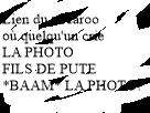 Sticker other minimaliste texte vocaroo fils de pute