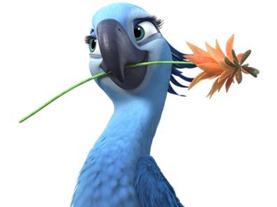 Sticker other spix macaw blu perla rio