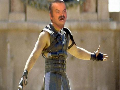 Sticker risitas gladiator guerrier guerre soldat epee film maximus decimus empereur