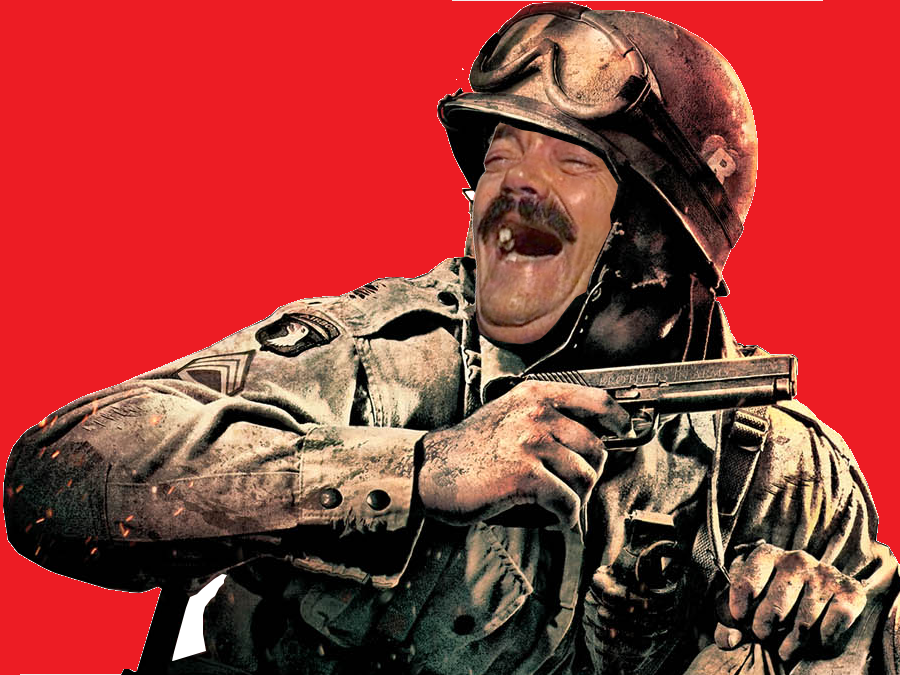 Sticker risitas soldat guerre pixel canvas france bresil