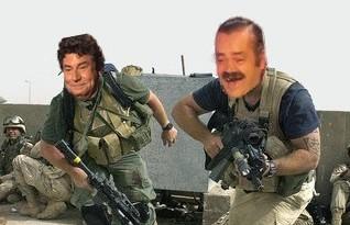 Sticker risitas militaire smp guerre arme mercenaire cours fuite