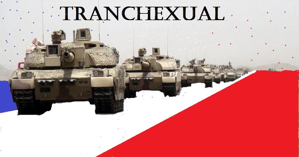 Sticker transexuel frwar armee tank bresil