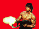 Sticker other rambo rouge pixel