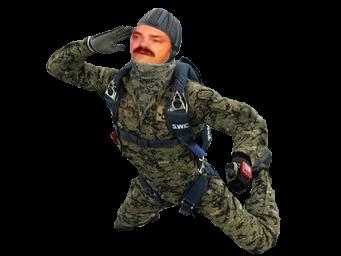 Sticker risitas parachutiste parachute soldat militaire