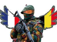 Sticker soldat risitas armee militaire drapeau arme france belgique guerre pixls pixels pixelcanvas