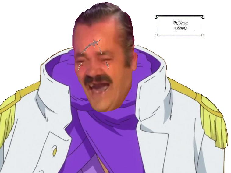 Sticker amiral issou issho risitas one piece fujitora