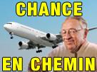 Sticker risitas larry chance en chemin avion 11 septembre