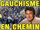 Sticker risitas jesus gauchisme en chemin gauchiste gauchiasse migrants