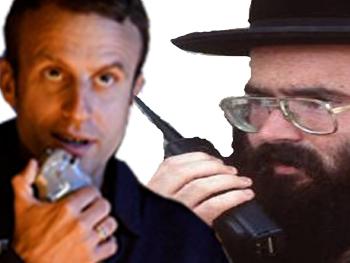 Sticker politic macron juif talkie walkie complot illuminati ddb antisemite gilbert 2 sucres