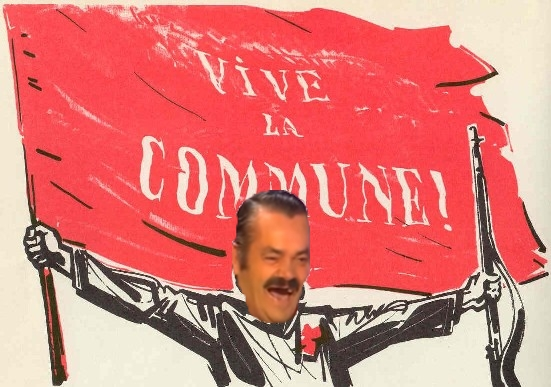 Sticker risitas commune communisme fi melenchon insoumis