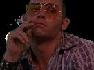 Sticker risitas las vegas parano cigarette lunettes raoul