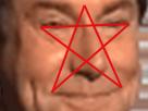 Sticker risitas jesus pentagramme illuminati complot diable sourire