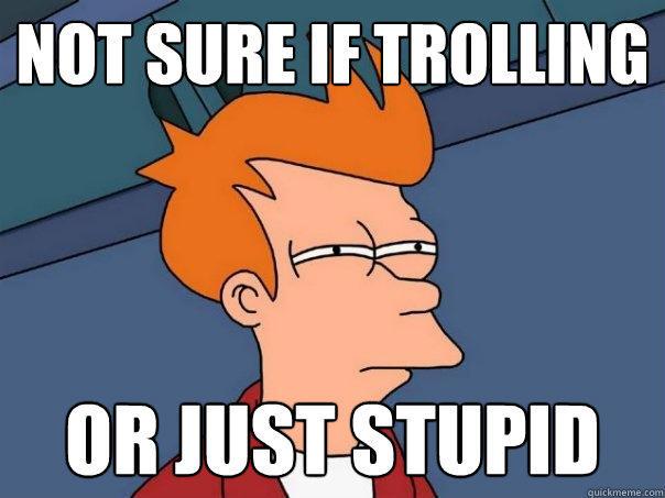 Sticker risitas futurama fry meme not sure if trolling stupide doute