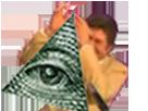 Sticker risitas jesus illuminati all seeing eye oeil providence complot franc macon