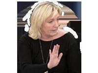 Sticker politic zemmour main le pen lepen marine