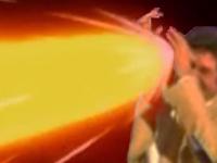Sticker risitas jesus mains bras vague deferlante dbz dragon ball z boule de feu