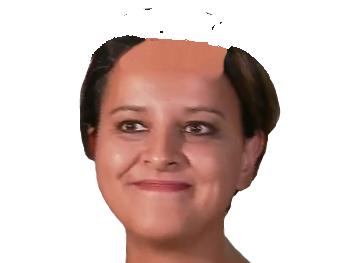 Sticker politic najat vallaud belkacem sourire calvitie chauve