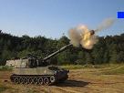 Sticker other pixel wars bleu artillerie