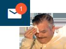 Sticker risitas sueur mp message prive ddb banni ban gilbert
