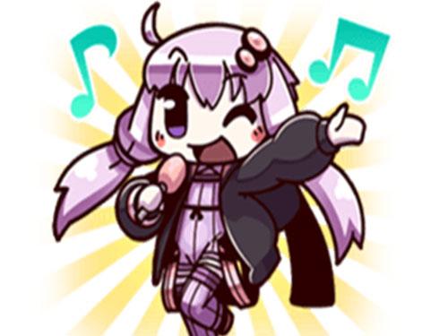 Sticker yuzuki yukari kikoojap vocaloid happy