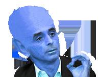 Sticker politic zemmour doigt attali alien bleu et extraterrestre