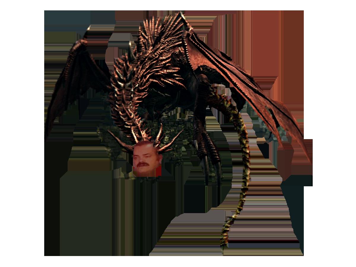 Sticker dark souls dragon risitas