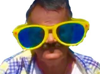 Sticker risitas issou dedicace espagne lunette plage soleil chancla zoom