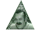 Sticker risitas rire pyramide illuminati franc macon complot reptilien all seeing eye oeil providence