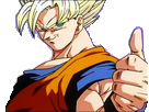 Sticker kikoojap goku approves dbz