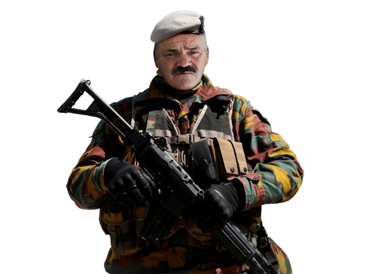 Sticker risitas armee belge solide soldat defense militaire
