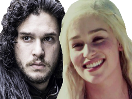 Sticker other jon dany got game of thrones