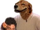 Sticker risitas chien jesus inverse