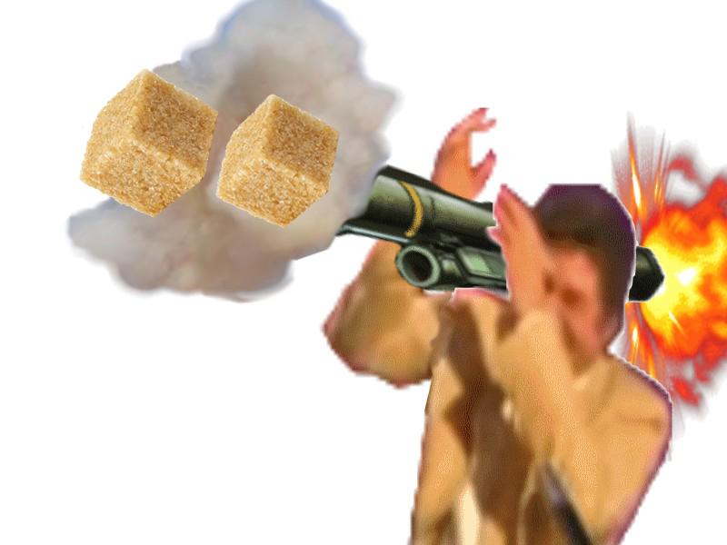 Sticker risitas jesus ddb 2 sucres gilbert bazooka lance roquettes