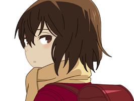 Sticker risitas kayo anime manga erased paix fille