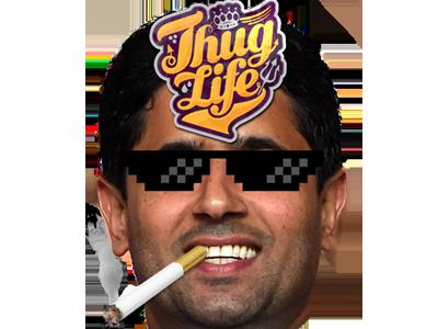 Sticker other nasser al khelaifi thug life psg paris