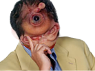 Sticker shelou bizzare risitas jesus zoulman yeux autiste horrible creature du demon hardcore doom monstre deforme trizomique